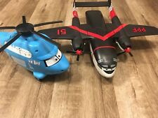 """Working Disney Pixar Cars 14"""" Dinoco The King Talking Helicopter Toy Figure/PPF"""