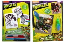 4 X Teenage Mutant Ninja Turtle TMNT paquetes de actividad de Arte-Bolsa Fiesta Juguetes