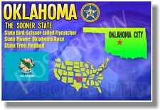 Oklahoma Geography - New U.S State Travel Poster