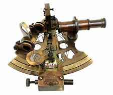 solid Brass Working Marine Sextant Collectible Vintage Nautical Ship Astrolabe