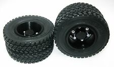 2p x 1/14 Rear aluminum wheels rim Tires for RC Tamiya 1/14 Tractor Truck Black
