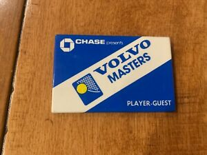 1980'S VOLVO MASTERS PLAYER GUEST BADGE BUTTON PIN PINBACK TENNIS SUPER RARE