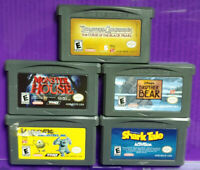 Nintendo Game Boy Advance Lot Disney Monsters Inc Pirates Shark Tale Brother