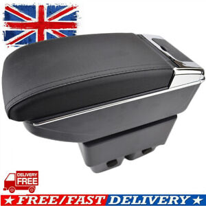 For Ford Fiesta 2009-2017 Dual Layer Armrest Car Central Storage Box Comfort UK