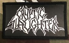 Cryptic Slaughter Logo Printed Patch C031P Suicidal Tendencies DRI
