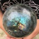 2.48LB+Natural+labradorite+ball+quartz+crystal+sphere+mineral+crystal+healing+