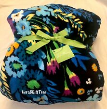 Vera Bradley Throw Blanket MIDNIGHT BLUES Multicolor BLUE Floral RARE NWT New