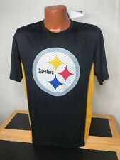 Mens NFL Team Apparel S/S Athletic T-Shirt Tx3 Cool Medium M Pittsburgh Steelers