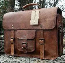 Bag Leather Messenger Laptop Shoulder Vintage Men Briefcase Satchel Genuine New