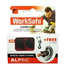 ALPINE WorkSafe Gehörschutz gegen Lärm am Arbeitsplatz Ohrstöpsel inkl. Kordel