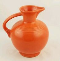 Fiestaware Persimmon Carafe Fiesta Retired Orange 60 oz Water Pitcher Jug