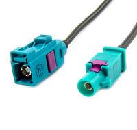 Fakra Antennen Verlängerung 6m Fakra Stecker auf Fakra Buchse Kabel RG174 Typ Z