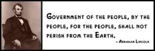 Wall Quote - ABRAHAM LINCOLN - Government of the people, by the people, for the