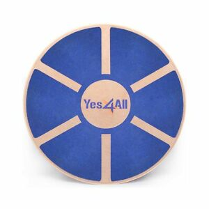 Yes4All Wooden Wobble Balance Board – Exercise Balance Stability Trainer 15.7...
