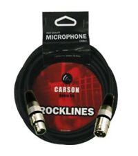 CARSON Rocklines 20' Inch 6 Metre Microphone XLR to XLR Cable / Lead *NEW* Black