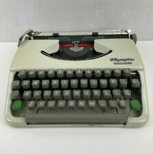 More details for vintage olympia splendid 33 typewriter cream & leather carry case **tested**