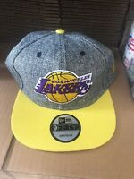Los Angeles Lakers Snapback Hat Cap New Nba Basketball Gray