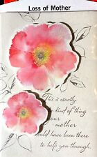 """SYMPATHY Card MOTHER """"LOSS OF MOTHER"""" / MOM  15 Choices Hallmark 3A"""