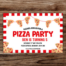 10 *PERSONALISED* invitations PIZZA making party BIRTHDAY invites