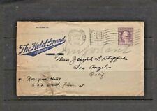U.S., Envelope, Hotel Grand, Roseburg, Oregon, 1918, With Two Page Letter.