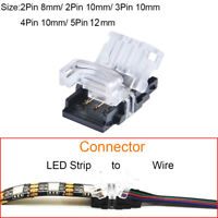 2/3/4/5Pin LED Connector Strip to Wire for 5050 3528 RGB RGBW LED Strip Lights