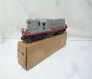 Lionel  # 2328 Burlington GP-7 Diesel Locomotive,  Silver/Red in Orig BOX!!
