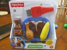 Fisher Price Servin Surprises Chicken Steak Magic brush BBQ sauce corn cob NEW