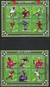Mozambique- Scott 1421-1422 European Soccer Championships sheets CTO- CV $14
