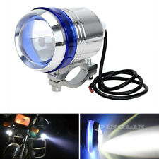 30W Cree U3 LED 12V Motorcycle Headlight White Angel Eye Driving Fog Spot Light