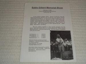 1996 Eddie Gilbert Memorial Show National Wrestling Alliance NWA Event Flyer