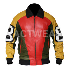 8 Ball Seinfeld Puddy Patrick Warburton - Mens Bomber Letterman Leather Jacket