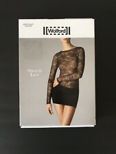 Wolford Stretch Lace Pullover Long Sleeve Top Size 36 / US 6 Black