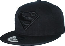Superman DC Comics All Black Snapback Cap