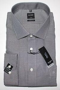 OLYMP Herrenhemd Luxor modern fit -schwarz -ELA- Kragenweite 48 -0424/69/68 #197