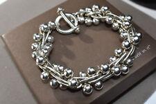 "SILPADA 925 Sterling Silver ""DNA"" Ball Link Toggle Clasp Bracelet - B0523 - HTF!"