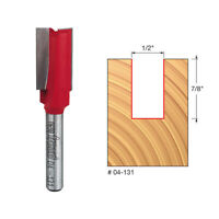 Freud 04-131 1/2-inch (Dia.) Double Flute Straight Bit with 1/4-inch Shank