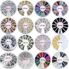 15pcs 3D Nail Art Charms Rhinestone  Wheel Design Stone Decorations DIY Nail Art