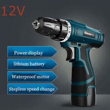 12V Screwdriver Cordless Power Tools Screw Gun Electric Rechargeable Hand Drill