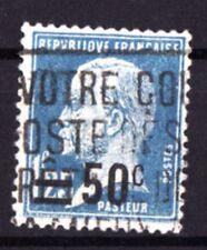 "FRANCE TIMBRE STAMP YVERT N° 222 "" PASTEUR 1F25 BLEU SURCHARGE 50c "" OBLITERE TB"