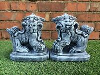 Small Foo Dogs Latex Only Garden Ornament Mould (ORIENTAL22)