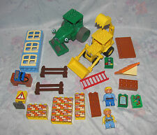 Lego Duplo Bob The Builder Lot - Bob, Wendy, Parts of Roley, Scoop