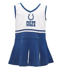 Indianapolis Colts Nfl Infant Toddler Cheerleader Outfit Combo Set with Bottoms