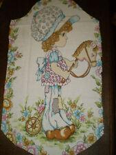 Vintage SARAH KAY / HOLLY HOBBIE Large Fabric Panel (28cm x 50cm)