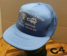 cdef868d2eb22 VINAGE MILLER HYDRAULICS   REPAIR CHENEY WASHINGTON TRUCKERS HAT BLUE EUC C4