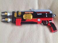Power Rangers SPD Delta Enforcer Blaster Gun Bandai 2005 - Lights Sound SFX Toy