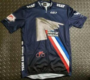 Louis Garneau US Air Force Cycling team uniform mens large G Spirit of america