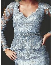 80270 MAC DUGGAL dress long GOWN Blue size 12 SPECIAL OFFER SALE $798