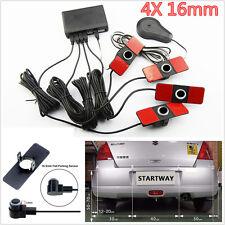 16mm 4 Parking Sensors Car Reverse Backup Front/Rear Radar Sound Alert Alarm Kit