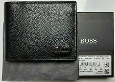 New Hugo Boss MONEME, Mens Wallet Black Leather Wallet 50261708 coin pocket