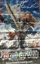 Force of Will FOW TCG Faria, the Ruler of God Sword ORIGINAL WALL BANNER